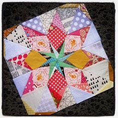 Block 4. Tennessee Star. Mendocino. #50fabulouspaperpiecedstars #star #quilting…