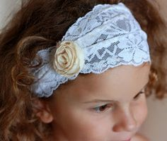 How to make a couple of Shabby Chic headbands. Want to try this one!