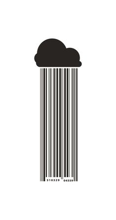 Barcode Rain Art Print