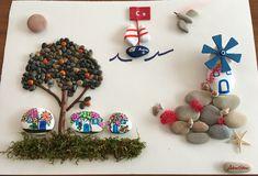 Turkey #Bodrum #stoneart #pebbleart # whitehouse #tangerine #bougainvillea # paint #stone # sea # sun # fantastic