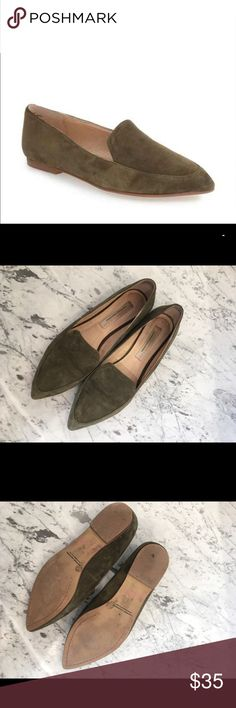 Chinese Laundry - Chandy Pointy Toe Flat Chinese Laundry -- Kristin Cavallari Chandy Pointy Toe Flat, size 8, olive green suede Chinese Laundry Shoes Flats & Loafers