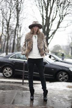 Street style en la alta costura de Paris primavera verano 2013: Anya Ziourova