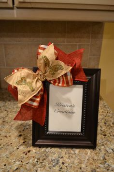 Red And Gold Butterfly Ribbon Embellished by kristenscreations