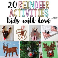 20 reindeer activities for kids they will love! Includes tons of arts & crafts that would make the perfect DIY decorations and ornaments, STEM and math challenges, and other great ideas for Christmas. Make your own Rudolph today! Handmade Christmas Crafts, Christmas Crafts For Kids To Make, Christmas On A Budget, Christmas Ideas, Christmas Decor, Fun Activities For Kids, Christmas Activities, Craft Activities, Winter Activities