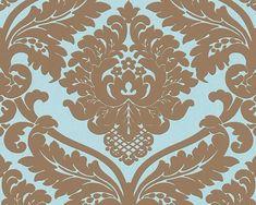 Barok Behang Blauw, Bruin 5543-69 | Barok | onlinebehangpapier