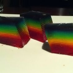 Rainbow Jello Shot Cake!