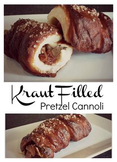 Kraut Filled Pretzel Cannoli - just in time for Oktoberfest! #vegan #dairyfree