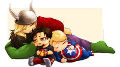 Mighty Cute Avengers: A roundup of the most adorable Avengers fan art from around the web Avengers Fan Art, Baby Avengers, Young Avengers, Marvel Avengers, Avengers Cartoon, Baby Loki, Marvel Heroes, Baby Marvel, Avengers Humor
