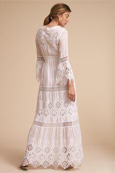 BHLDN's Temptation Positano Samoa Dress in Ivory Samoa Dress Ivory in Sale White Dress Summer, Little White Dresses, Summer Dresses, Boho Wedding Dress, Bridal Dresses, Bridesmaid Dresses, 50 Fashion, Fashion Dresses, Temple Dress