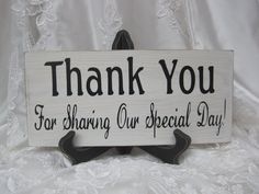 Rustic Wedding Sign Thank You Special Day by dlightfuldesigns, $18.00