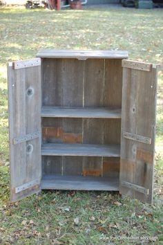 Liquor Cabinet Recycled Wood Cabinet. Whiskey Storage Cabinet. Recycled Wood…
