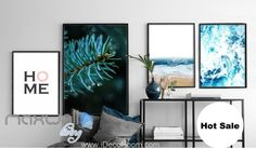 Home Blue Sea Splashing Tree Canvas Prints Wall Decals Art Decor Unframed IDCCV-BO-000217