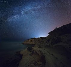 Capo Mannu by Night
