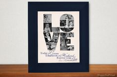 LOVE Parent Wedding Gift - Parent Gifts For Wedding - Photos of Groom on Etsy, $15.00