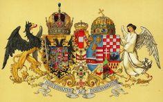 Empire of Austria-Hungary, joint medium coat of arms, 1915-1918, Hugo Gerhard Ströhl.