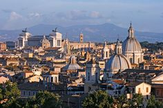 A beautiful and exciting view from the top in Rome