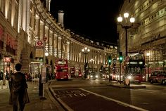 The famed Regent Street in London, England