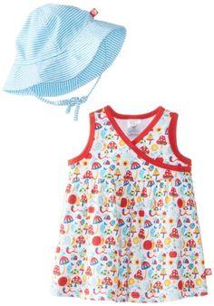Zutano Baby-Girls Infant Happy Day Surplice Dress and Sunhat Set - List price: $44.50 Price: $29.99