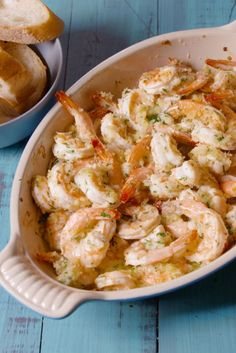 Baked Shrimp Scampi. Just use gf breadcrumbs