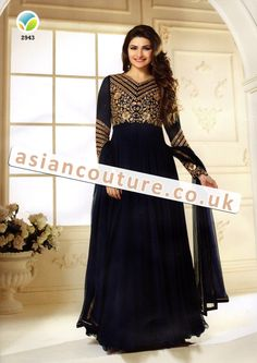 Kaseesh Prachi 10 by Vinay Fashion. Embroidered, anarkali/frock style party wear - Georgette/Net material - Shop this way--> https://www.asiancouture.co.uk/Kaseesh-Online-Prachi-Dresses-At-AsianCouture-Uk-And-Surat  #Kaseesh #Prachi #desai #Vol10 #Asian #Indian #Clothes #Mf #SalwarKameez #vinayfashion #asiancouture #uk #London #womenswear #Partywear #Anarkali #Suits