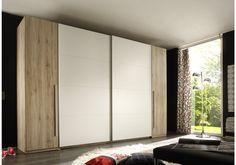 Kleiderschrank Eiche San Remo hell/ weiss Woody 62-00081