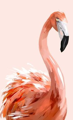 Print of painting of flamingo on pink background ., - Print of painting of flamingo on pink background …, - Giraffe Painting, Flamingo Painting, Painting Prints, Pink Painting, Art Prints, Wallpaper Fofos, Wallpaper Art, Architecture Drawing Art, Quirky Art