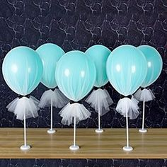 Amazon.com: Suppromo 12 inch Party Latex Dot Balloons Tutu Tulle Balloons With Column Base Kit for Baby Shower Birthday Wedding Party Decoration(Pink Tulle Balloon, 6 Pack): Kitchen & Dining