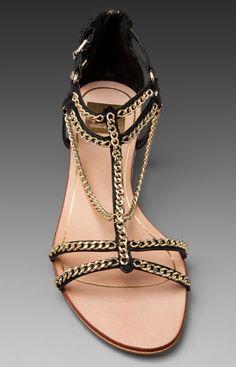 Gold Chain Sandals / dolce vita