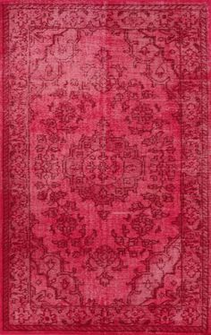 Rugs USA Overdyed OV01 Pink Rug $225 for 5 x 8