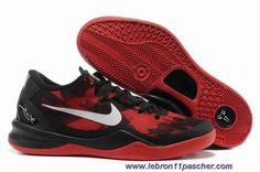 official photos 0ca58 51b8d See more. Femmess Nike Kobe 8 Noir Rouge Shoes Vente Red Basketball Shoes,  Kevin Durant Basketball Shoes