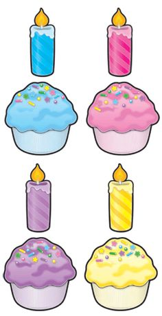 Cut-Out Buddies Cupcakes - Candles from TeachersParadise.com ...