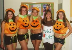 ohh the halloween costumes we made in college :)