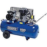 Draper 31254 100 Litre 230v 2.2kw Belt Driven Air Compressor