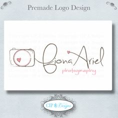 Premade Logo and Watermark.Pre made logo design. Photography Logos, Photography Business, Modern Logo Design, Web Design, Watermark Ideas, Drawn Art, Creative Lettering, Photo Logo, Children Photography