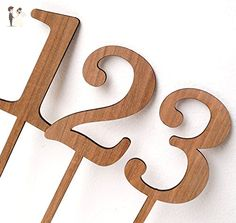 Wooden table number, wedding table numbers, rustic table numbers, unfinished wood numbers, diy wedding table decoration - Venue and reception decor (*Amazon Partner-Link)