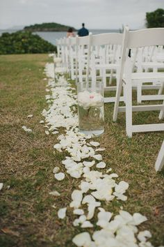 Vibrant, St. John, Destination Wedding - White,  Decor,  Aisle