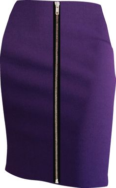 The design your own skirt company, No.2 Skirts. Exposed Zip Pencil Skirt in Deep Plum fabric.