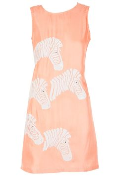 Pink sequined zebra shift dress available only at Pernia's Pop-Up Shop.
