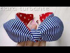 Tiara Turbante - DICAS - YouTube Diy Baby Headbands, Vintage Headbands, Diy Headband, Baby Bows, Making Hair Bows, Diy Hair Bows, Sewing Crafts, Sewing Projects, Fascinator Headband