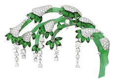 Van Cleef & Apels Oriental Garden....emeralds, diamonds and jade via fashion.com