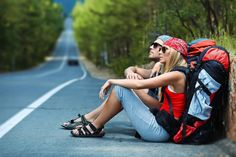 Hitchhiking is a cheap way to travel, a lot of fun, and a great way to meet people, but it can be dangerous too. This is a comprehensive guide to hitchhiking. Camping And Hiking, Backpacking Tips, Hiking Tips, Hiking Gear, Hiking Backpack, Outdoor Camping, Camping List, Hiking Shoes, Travel Backpack