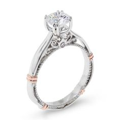 Shop online VERRAGIO WRW-11938 Solitaire Two Tone Gold Diamond Engagement Ring at Arthur's Jewelers. Free Shipping