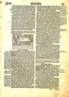 1537 Matthew-Tyndale Bible First Edition : Noah's Ark