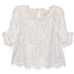 Joie Fanny Lace Top ($228) ❤ liked on Polyvore