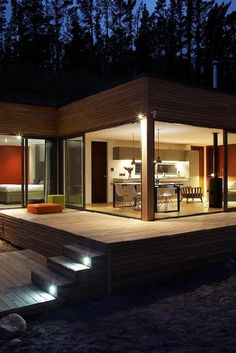 "Not sure I'd like this for my ""forever home"" but would love a getaway home like this...love the open but modern style."