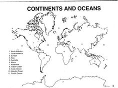 1000 ideas about World Map Quiz on Pinterest Continents And Oceans Map Ac