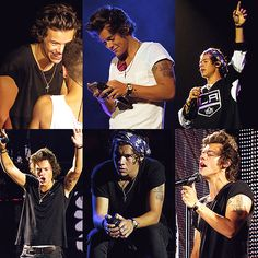 Harry Styles | Take Me Home Tour Omg that top middle picture makes me want to punch a wall. Stop.