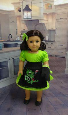 Zombie Cooking vintage style dress and apron von CupcakeCutiePie