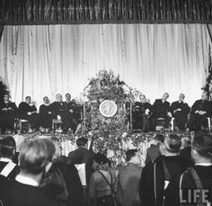 """MARCH 5, 1946:  In his """"Sinews of Peace"""" speech at Westminster College in Fulton, MO, Winston Churchill said """"From Stettin . . . to Trieste . . . an iron curtain has descended across the continent."""""""