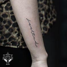 #tattoo #lettering #letteringtattoo #finelinertattoo Tatoos, Tattoo Quotes, Lettering, Instagram, Random Tattoos, Drawing Letters, Tattos, Inspiration Tattoos, Quote Tattoos